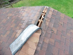 Windy spring conditions can cause ridge vents to peel back. Part of a spring maintenance assessment should be taking a good look at the roof and its components.