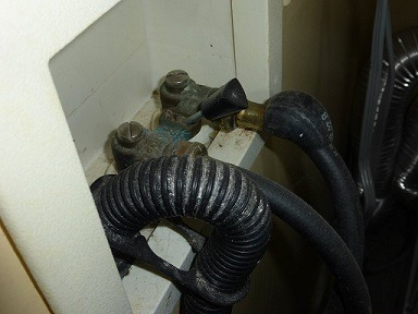 Bulging Washing Machine Hose found by Keystone Home Inspection